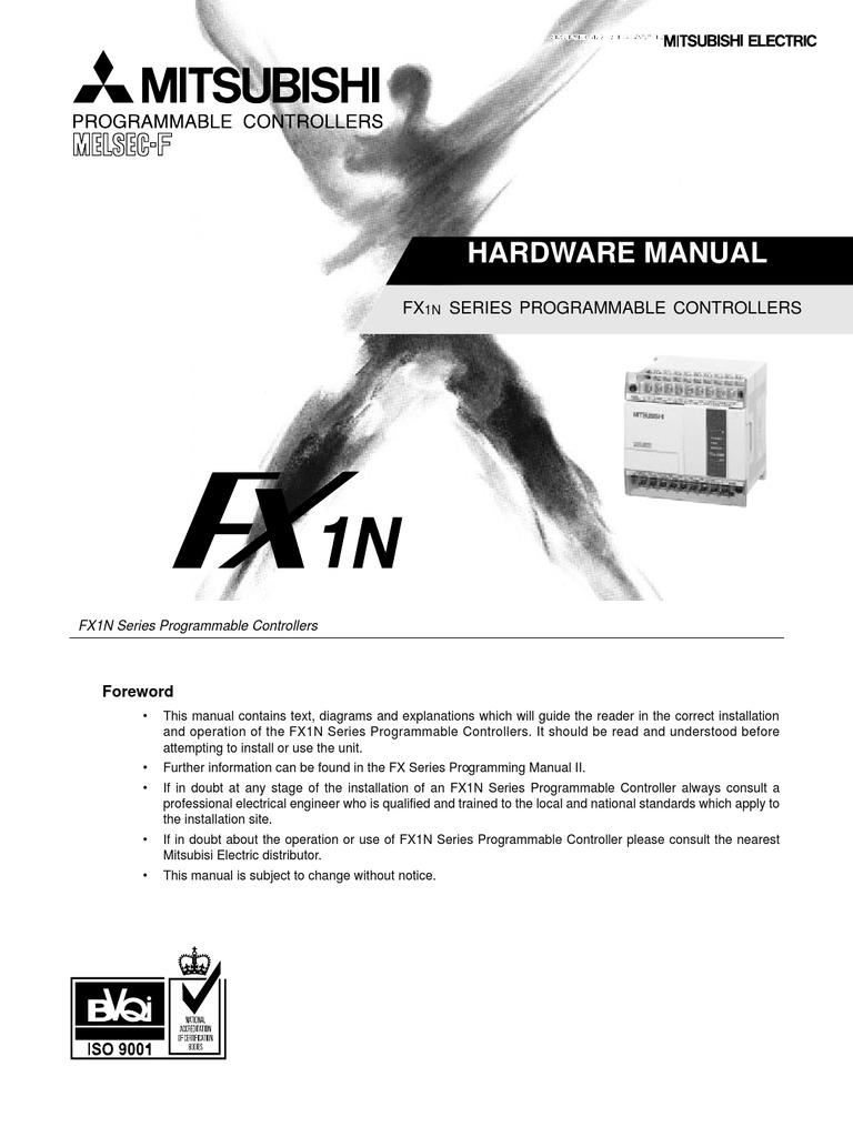 FX1N HARDWARE MANUAL PDF