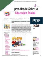 Aprendiendo Sobre La Educación Inicial_ Proceso de Aprendizaje Kinestesico en La Educación Inicial