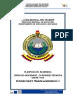 1.- Planificación Académica Segundo  Grupo Periodo Académico 2019 e. final (1)