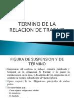 PRESENTACION TERMINO DE LA RELACION LABORAL, ACOSO LABORAL Y SUBCONTRATACIÓN 2017