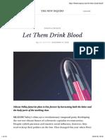 let them drink blood peter thiel