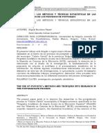 Dialnet-UtilizacionDeLosMetodosYTecnicasEstadisticasEnLasI-4232573