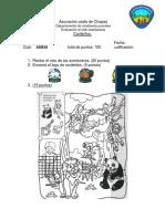 Asociación oeste de Chiapas_ examen de corderos