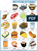 food and drinks vocabulary esl picture dictionary worksheets for kids (1)
