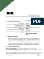MODELO DE CV- TALLER