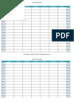 Time Tracking Sheet