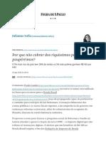 Por que não cobrar dos riquíssimos para dar aos paupérrimos_ - 28_08_2020 - Julianna Sofia - Folha