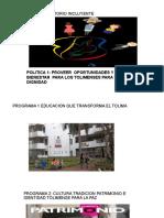 EJE 1 TOLIMA  TERRITORIO INCLUYENTE