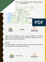 PLAN DE DESARROLLO DEL TOLIMA 2016-2019