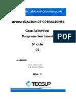 Caso 01 - Programacion Lineal