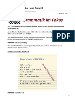 deutsch-coach.com-WERDEN für Futur I und Futur II