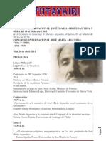 CONGRESO INTERNACIONAL JOSÉ MARÍA ARGUEDAS