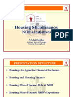Housing Microfinance NHB's Initiative