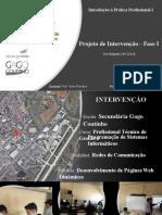 Projeto de Intervenção - Fase I- apresentação