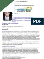 Anestesiología PT1 8º Simposio Bayer de Actualización Veterinaria 2008