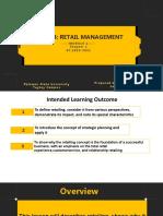 Retail Management Module 1 Chapter 1
