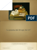 La poesía del grupo del 27