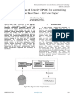 Implementation of Emotiv EPOC for Controlling Computer Interface – Review Paper