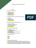 Examen II parcial La Paz y El  conflicto
