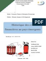 Historique des crises financières au pays émergents