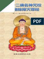《佛说十二佛名神咒校量功德除障灭罪经》(简体注音)