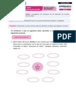 FICHA 3 SESIÓN 1 EXP 2 COMUNICACIÓN QUINTO GRADO - OCTUBRE 2020