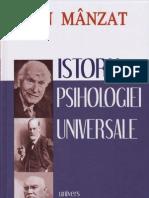 Ion Manzat - Istoria Psihologiei universale