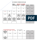 Calendario Consejo Escolar -Octubre y Noviembre 2020