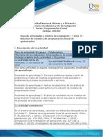 Guia de actividades y Rúbrica de evaluación - Tarea 3 - Solución de modelos de programación lineal de optimización