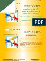 GUIA PEDAGOGICA 1ER AÑO A  3ER AÑO CIRCUITO 2
