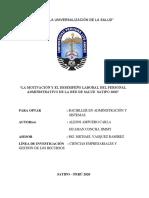 TRABAJO DE TALLER DE INVESTIGACION II