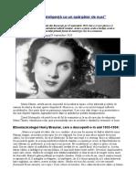 """Maria Tănase, """"o Inteligență CA Un Spărgător de Nuci"""""""