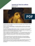 Cum Arăta Leonardo Da Vinci În Realitate