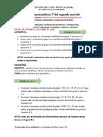 Guía # 3 DE MATEMÁTICAS 3° SEGUNDO PERIODO