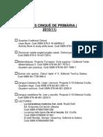 LLIBRES CINQUÈ DE PRIMÀRIA