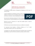 Comunicado 03_20_DESIGNAÇÃO DE ORIENTAÇÃO EM TCC I
