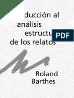 BARTHES ROLAND - Introduccion Al Analisis Estructural de Los Relatos (1966) Revista Communications
