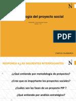 METODOLOGIA DEL PROYECTO SOCIAL