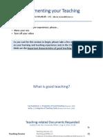 Slide Deck Documenting Teaching