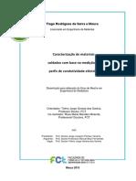 Caracterização de materiais-Mestrado