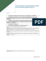 Importação de Dispositivos Médicos e Equipamentos de Proteção