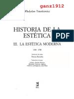 TATARKIEWICZ, W. - Historia de la Estética (III. La Estética Moderna) [por Ganz1912].pdf