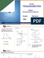 TRIGON 5° SEC SEMANA 20 ECUACION DE LA RECTA I VII UNIDAD.pdf