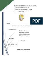 Informe Calidad de Agua - Grupo 2