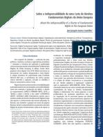 CANOTILHO. Sobre a indispensabilidade de uma Carta de Direitos Fundamentais Digitais da União Europeia (2019)