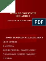 FOAIA DE OBSERVATIE PEDIATRICA PPT