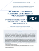 The usage of a laser height sensors for estimating road unevenness profile.pdf