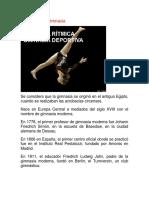 Historia de la gimnastica