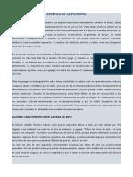 TALLER ESTÉTICA DE LA FILOSOFÍA GRADO 11°