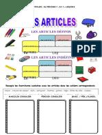 A1.1 - Les articles